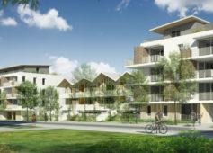 Construction de logements dans le quartier Ausone à Bruges